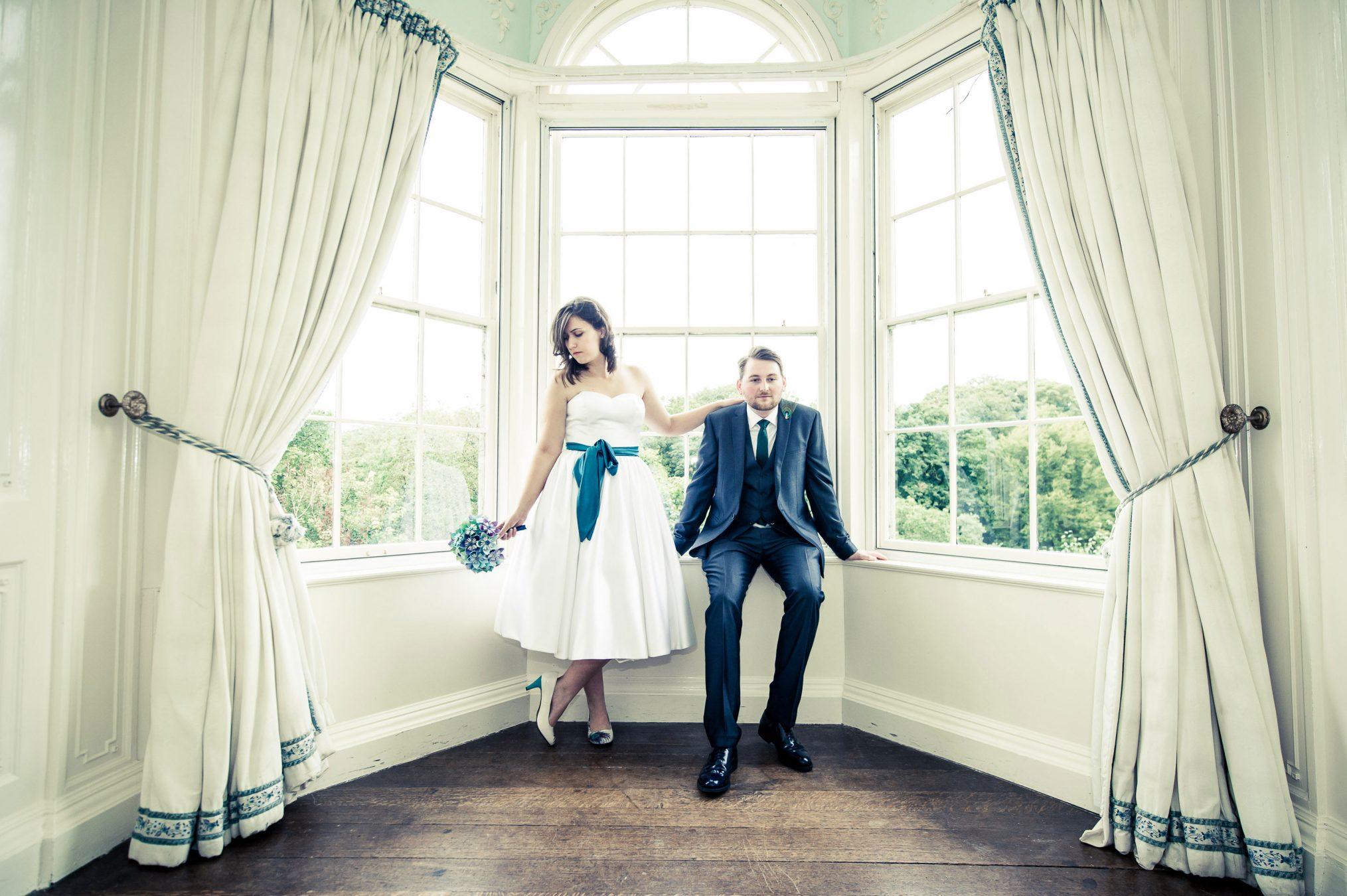 bride-and-groom-at-fonmon-castle-wedding-venue
