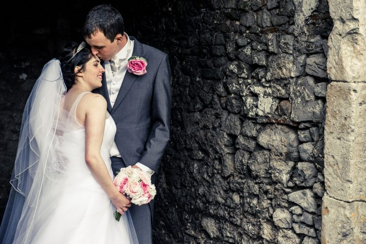 bride-and-groom-sharing-a-moment-at-oldwalls-castle-in-gower